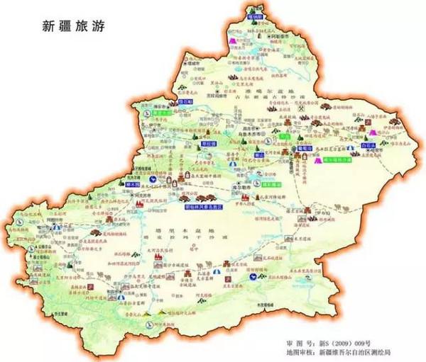 新疆旅游地图简图