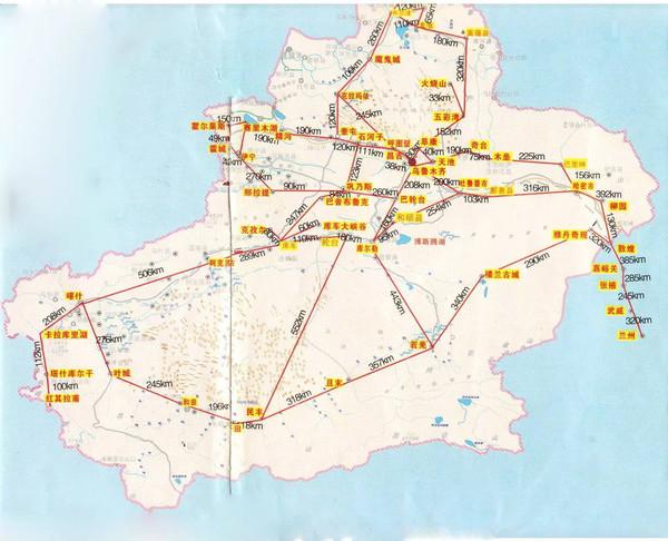 【新疆旅游线路】新疆各地旅游线路图大全!太详细了,值得收藏!